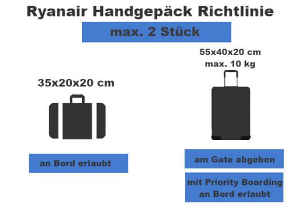 neue handgepäck regeln ryanair 2018